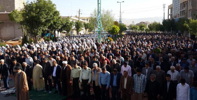 برگزاری نماز عید فطر به امامت امام جمعه شهرستان :